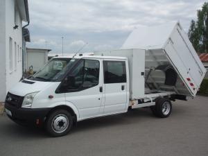 Ford Transit 350E 115PS  2,4TDCi valník sklápěč dvojkabina vysoké bočnice 5 míst Klimatizace - Prodáno