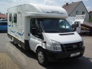Obytný vůz - Ford Transit 350L - nástavba Rimor - 2,2TDCi 130PS - Přední a zadní Klimatizace Tempomat - první registrace 07/2007