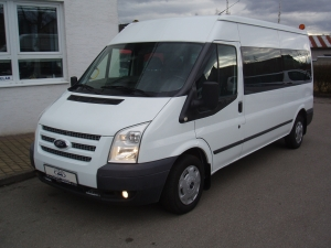 Ford Transit 300L 2,2TDCi 92kW/125PS Kombi L3H2 minibus 9-míst Trend Dvojitá Klima Tempomat - první registrace 03/2013