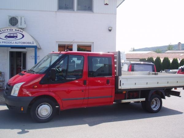Ford Transit  350 LWB EF 2,4TDCi 115PS valník 3,2m dvojkabina 7 míst Klimatizace Tažné zařízení Serviska - první registrace 18.1.2010
